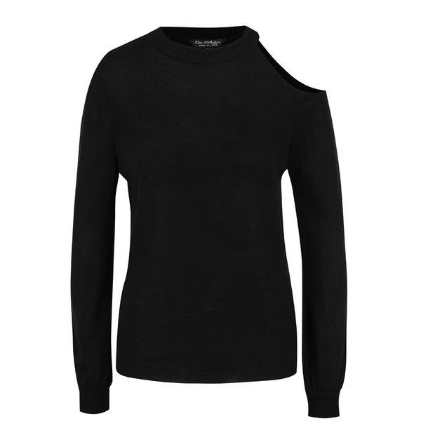 Bluză neagră Miss Selfridge din jerseu subțire