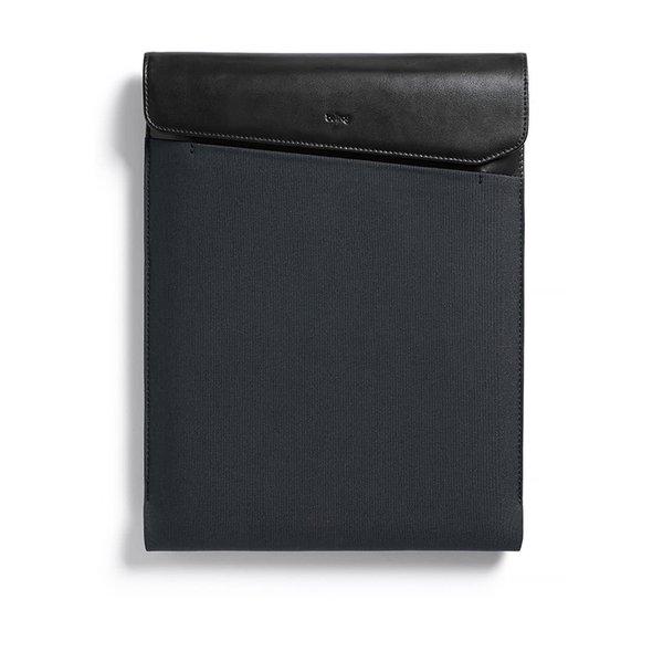 """Husă negru & gri pentru laptop Bellroy Laptop Sleeve Extra 13 cu detalii din piele"""""""