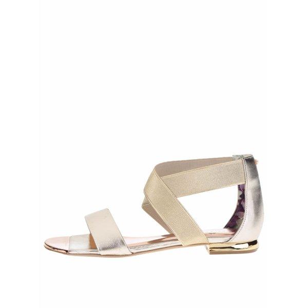 Sandale aurii din piele Ted Baker Laana cu barete elastice de la Ted Baker in categoria sandale