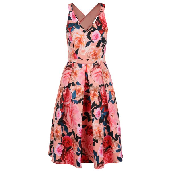 Rochie roz Dorothy Perkins cu imprimeu floral de la Dorothy Perkins in categoria rochii de seară