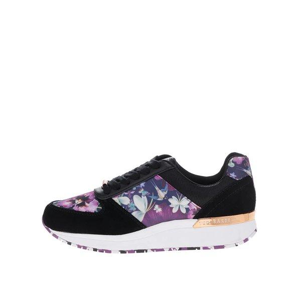 Pantofi sport negri din piele întoarsă Ted Baker Esmay cu detalii florale