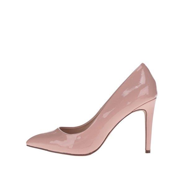 Pantofi cu toc roz cu aspect lacuit Dorothy Perkins