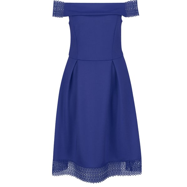 Rochie albastră Dorothy Perkins cu decolteu pe umeri de la Dorothy Perkins in categoria rochii de seară