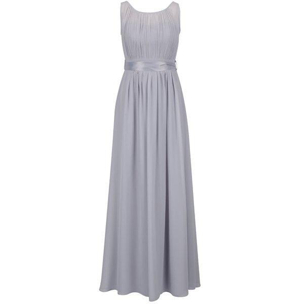 Rochie maxi gri Dorothy Perkins cu panglică în talie de la Dorothy Perkins in categoria rochii de seară