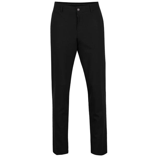 Pantaloni negri Bertoni Beck cu croi drept