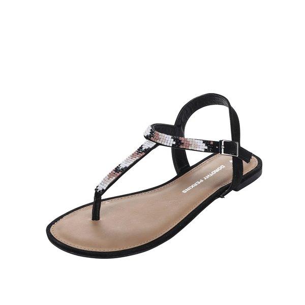 Sandale negre Dorothy Perkins cu aplicație din mărgele de la Dorothy Perkins in categoria sandale