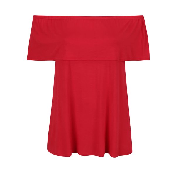Tricou roșu Dorothy Perkins Curve cu decolteu pe umeri de la Dorothy Perkins Curve in categoria Mărimi curvy