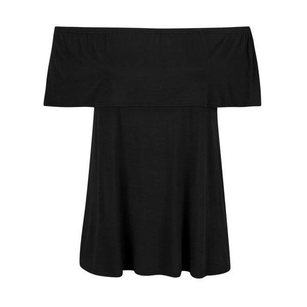 Tricou negru Dorothy Perkins Curve cu decolteu pe umeri de la Dorothy Perkins Curve in categoria Mărimi curvy