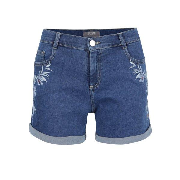 Pantaloni scurți din denim Dorothy Perkins cu broderie florală
