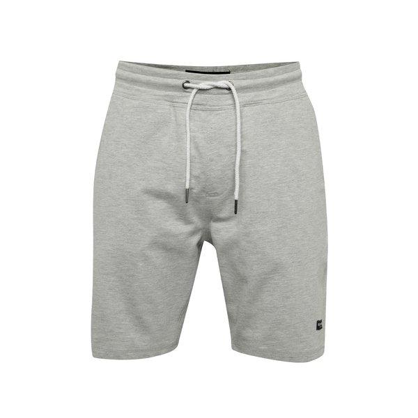 Pantaloni sport scurți gri deschis melanj ONLY & SONS New Huxi din bumbac cu talie elastică