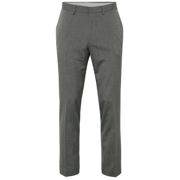 Pantaloni gri Burton Menswear London cu model pepit