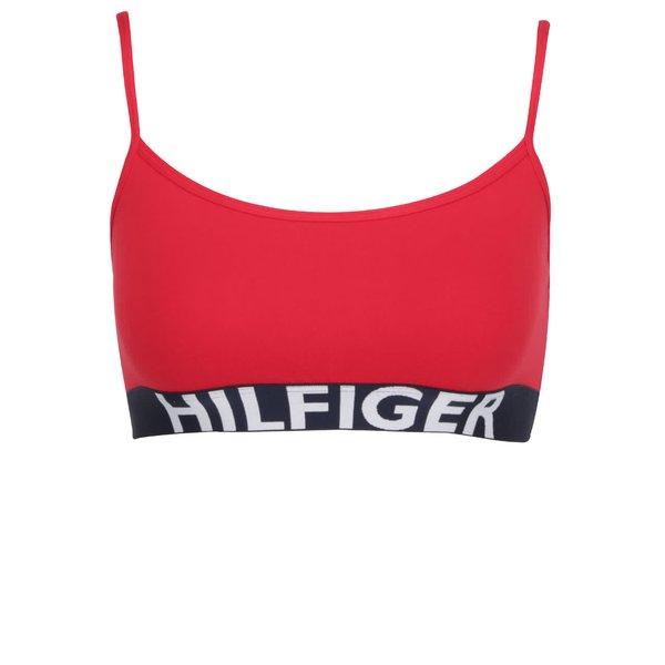 Bustiera rosie cu print logo Tommy Hilfiger de la Tommy Hilfiger in categoria Lenjerie intimă, pijamale, costume de baie