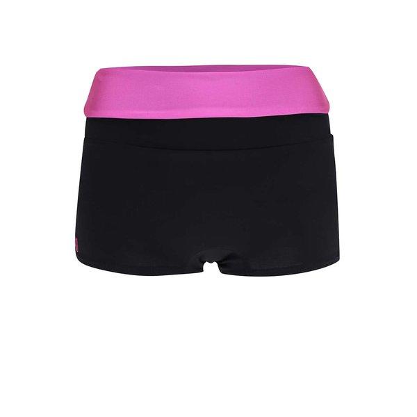 Pantaloni scurți sport Mania fitness wear Invert cu talie înaltă fucsia de la Mania fitness wear in categoria Blugi, pantaloni, colanți