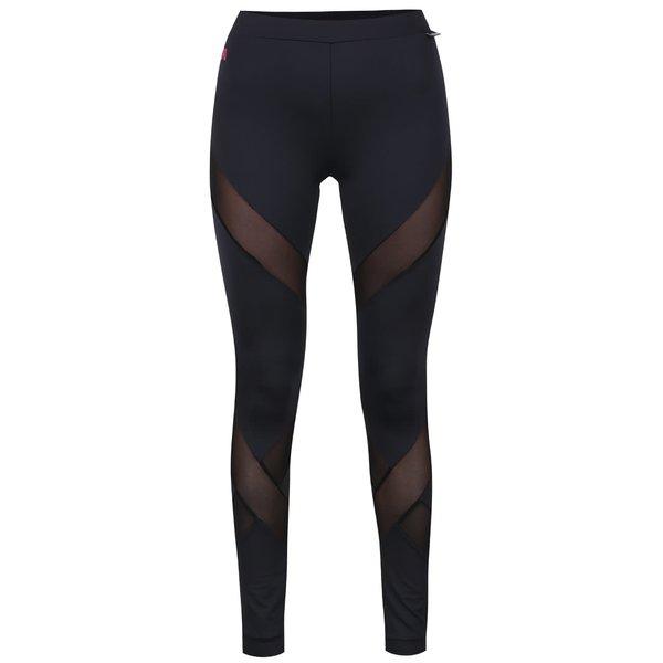 Colanți negri Mania fitness wear Diamond cu inserții din plasă de la Mania fitness wear in categoria Blugi, pantaloni, colanți