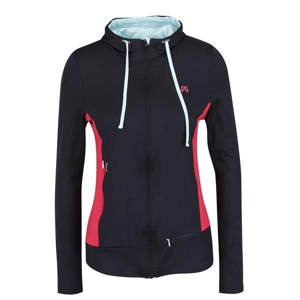 Hanorac negru sport Mania fitness wear cu glugă de la Mania fitness wear in categoria Pulovere și hanorace