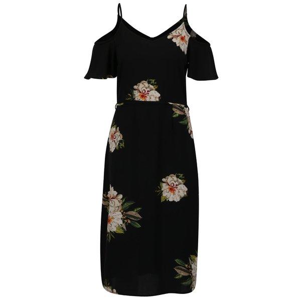 Rochie neagră ONLY Julie cu imprimeu floral de la ONLY in categoria rochii de vară și de plajă