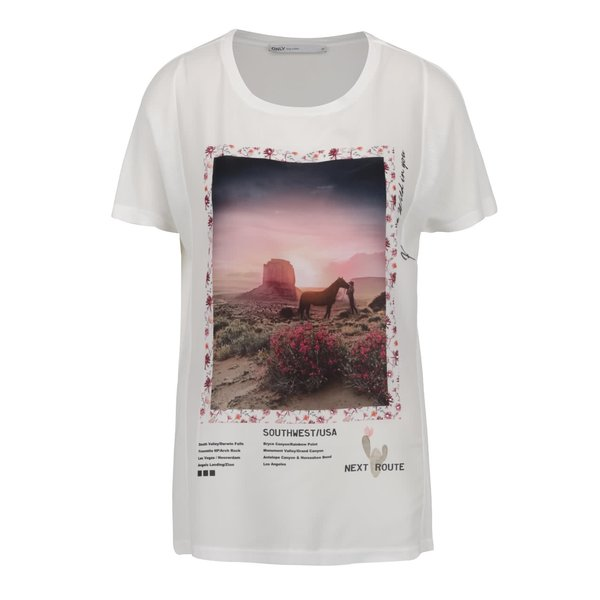 Tricou crem ONLY Storry Option II