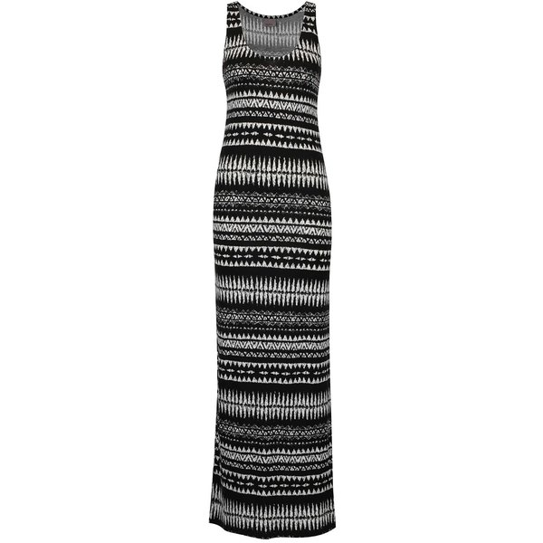 Rochie lunga cu print negru & alb VERO MODA Mussi