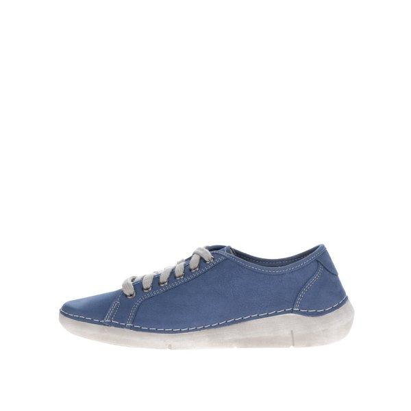 Pantofi casual de damă Weinbrenner albaștri din piele de la Weinbrenner in categoria pantofi sport și teniși