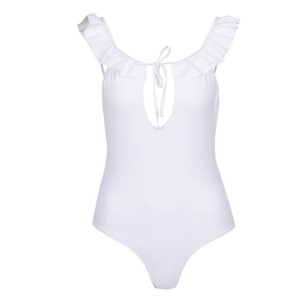 Costum de baie întreg alb VERO MODA Lauren cu volane de la VERO MODA in categoria Lenjerie intimă, pijamale, costume de baie