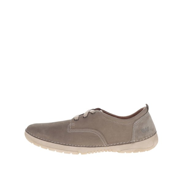 Pantofi casual bej pentru barbati Weinbrenner din piele naturala