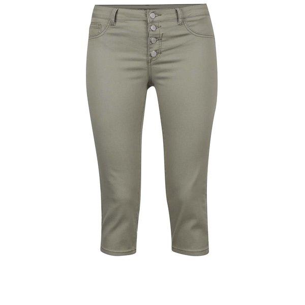 Pantaloni trei sferturi kaki VILA Commit