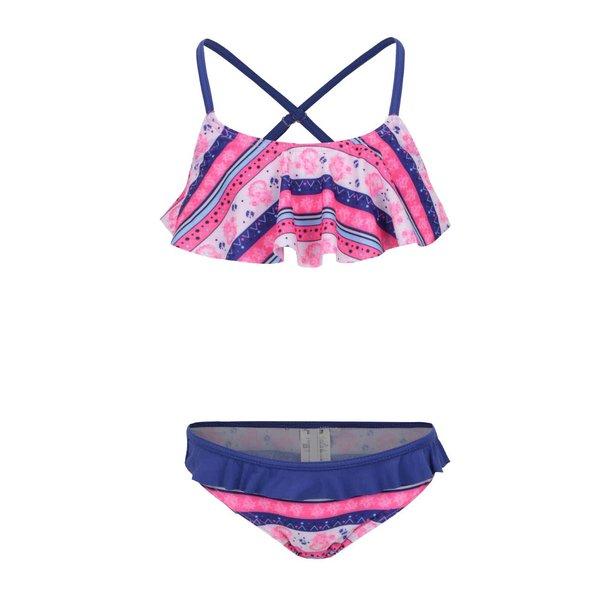 Costum de baie albastru&roz Name It Zujungle pentru fete