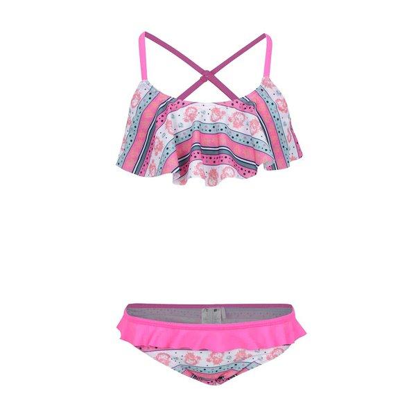 Costum de baie roz Name It Zujungle pentru fete