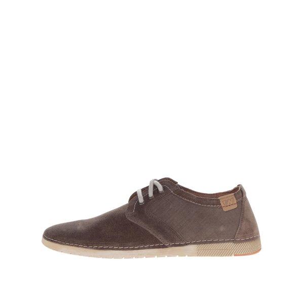 Pantofi casual maro din piele intoarsa pentru barbati Weinbrenner