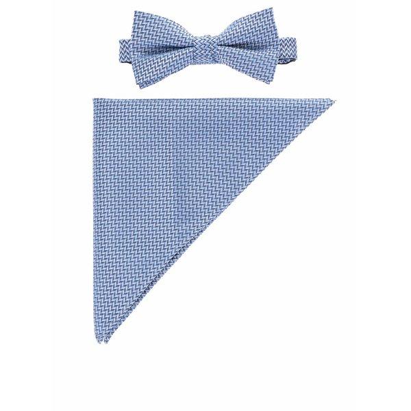 Set albastru cu papion și batistă Selected Homme Neal de la Selected Homme in categoria Accesorii