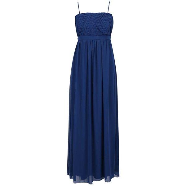 Rochie maxi albastră VILA Elva cu bretele detașabile de la VILA in categoria rochii de seară