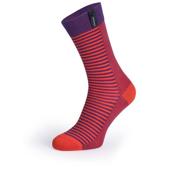 Șosete roșu&mov V páru în dungi