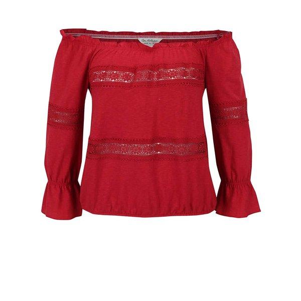 Bluză roșie Miss Selfridge cu umerii goi