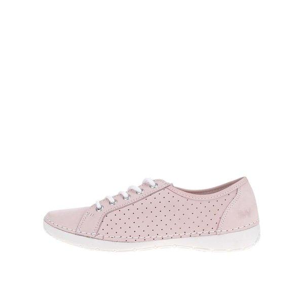 Pantofi casual roz deschis de damă Weinbrenner cu perforații de la Weinbrenner in categoria pantofi sport și teniși