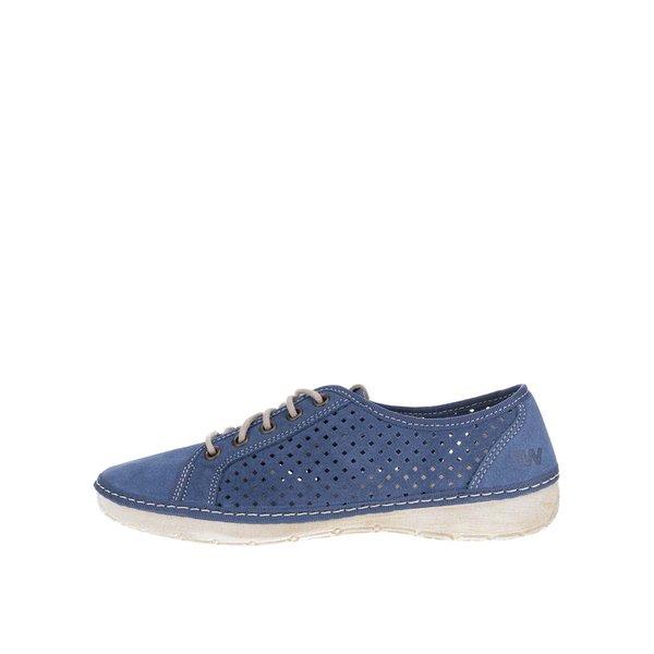 Pantofi casual bleumarin de damă Weinbrenner din piele naturală de la Weinbrenner in categoria pantofi sport și teniși