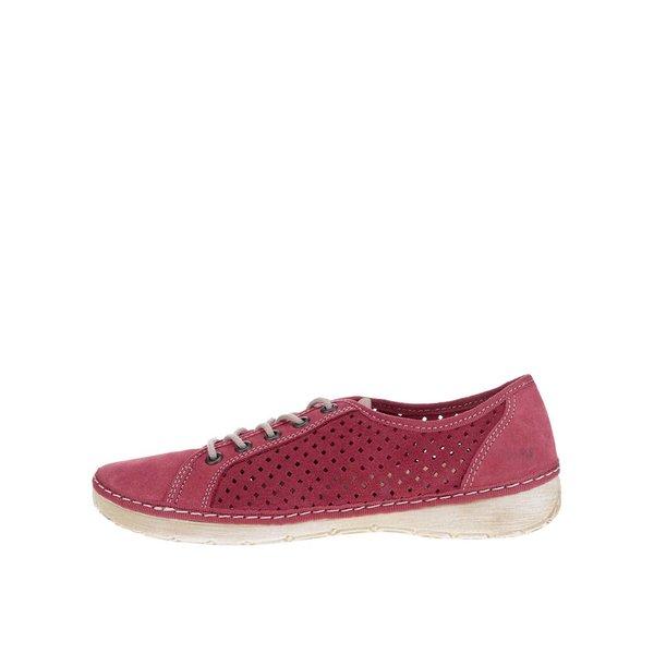 Pantofi casual roșii de damă Weinbrenner din piele naturală de la Weinbrenner in categoria pantofi sport și teniși