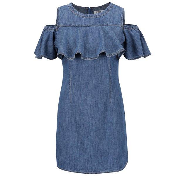 Rochie albastră Miss Selfridge din denim