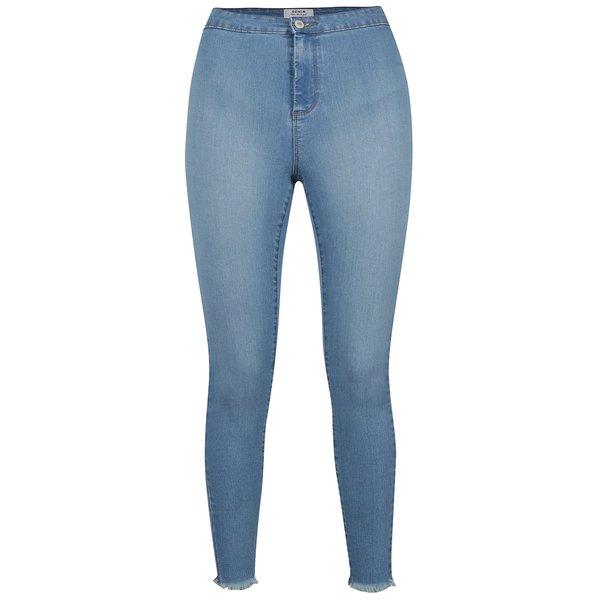 Pantaloni albaștri Miss Selfridge din denim