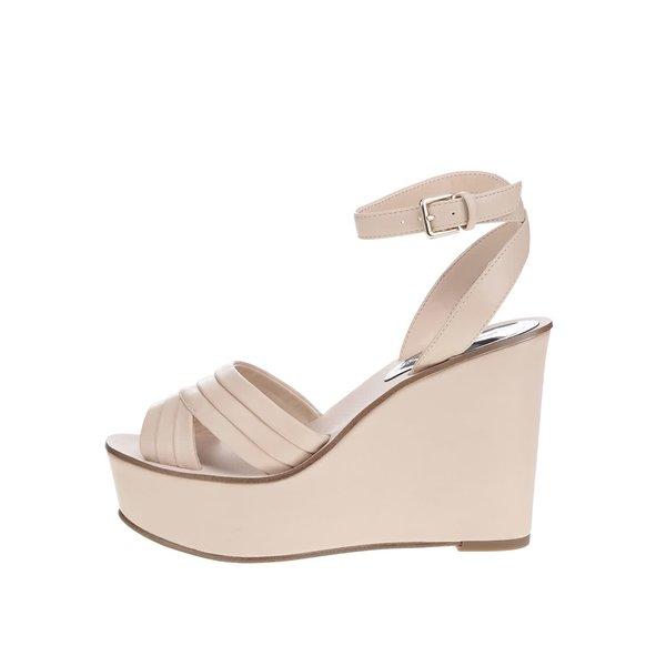 Sandale bej Miss Selfridge cu platformă de la Miss Selfridge in categoria pantofi cu platformă
