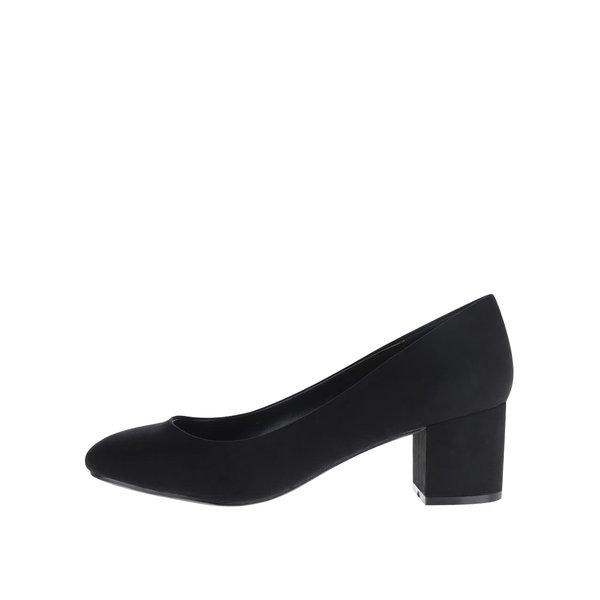 Pantofi negri Dorothy Perkins cu aspect de piele întoarsă