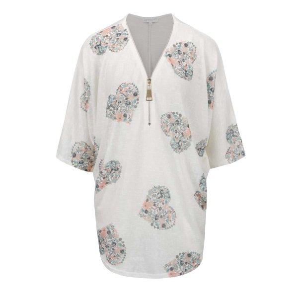 Cămașă crem Apricot cu imprimeu floral de la Apricot in categoria Topuri, tricouri, body-uri