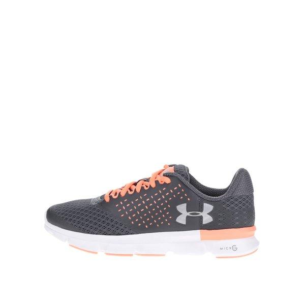 Pantofi sport gri de alergat pentru femei - Under Armour AU W Micro G Speed Swift 2