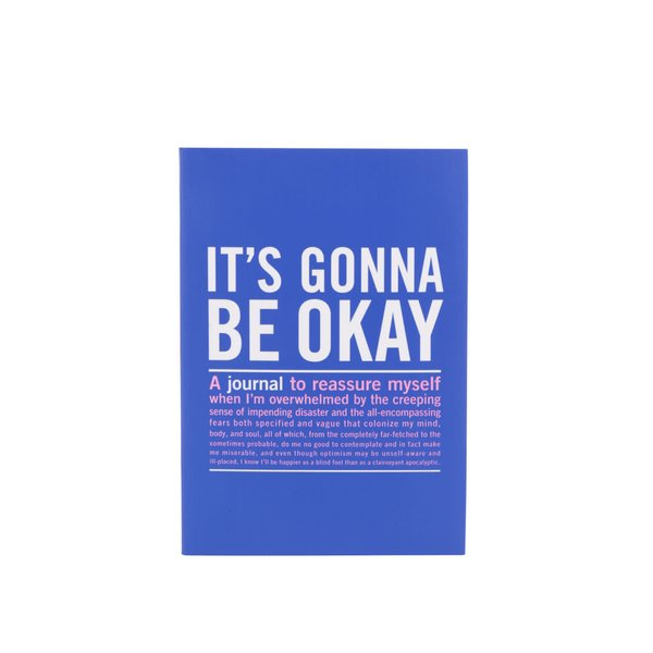 Agendă jurnal albastră Knock Knock cu citate
