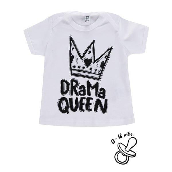 Tricou alb ZOOT Kids Drama queen pentru fete