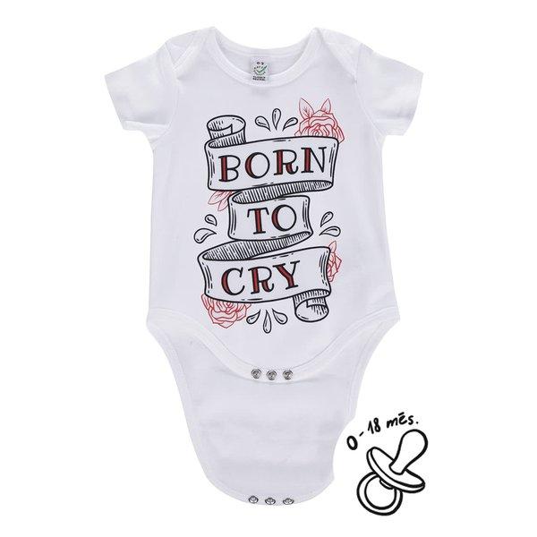Body alb ZOOT Kids Born to cry pentru bebeluși