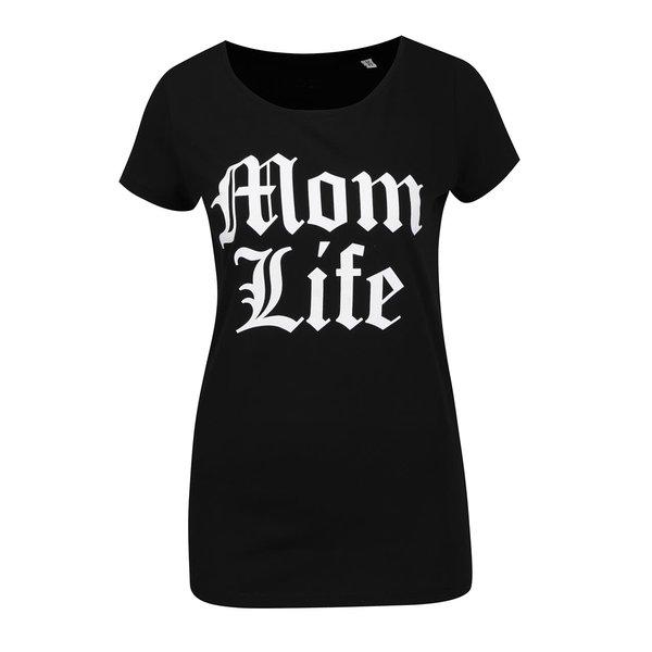 Tricou negru ZOOT Original Mom life cu print