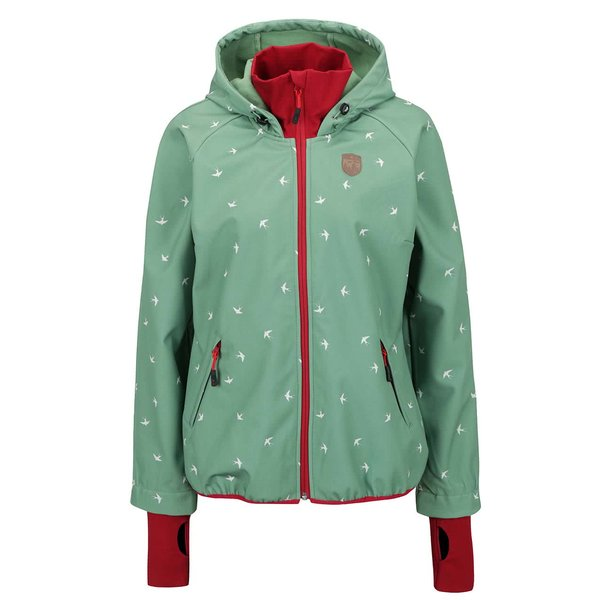 Jachetă verde Blutsgeschwister impermeabilă