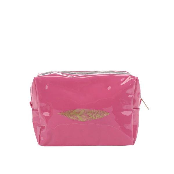 Portfard roz CGB cu aspect lucios