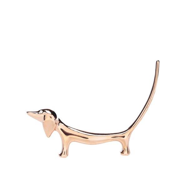 Suport pentru inele auriu CGB în formă de câine