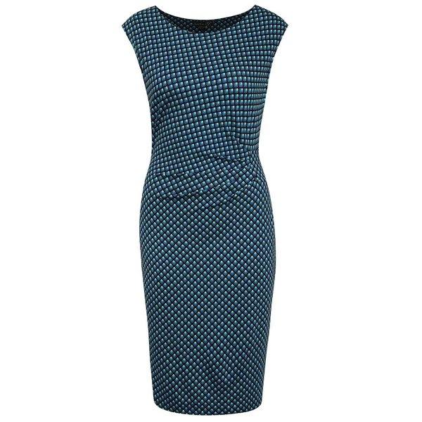 Rochie albastră Smashed Lemon cu model geometric